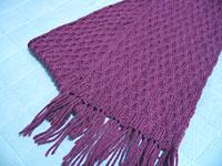 Achernar, a cabled scarf