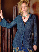 Peacock Cardigan from The Alchemy of Color Knitting