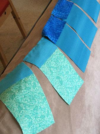 Chain-pieced fabric