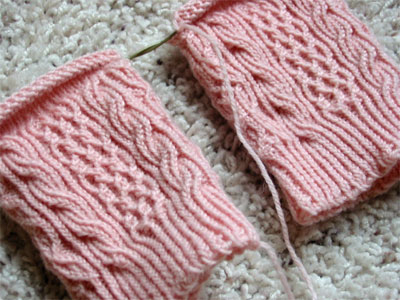 The beginnings of the Bayerische socks