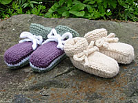 Wave of Babies Booties, closeup