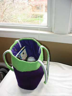 Finished Eggplant Bag