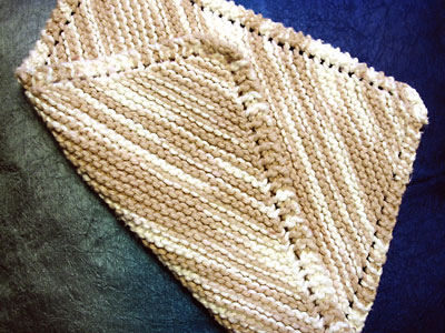Look.  An eyelet dishcloth.