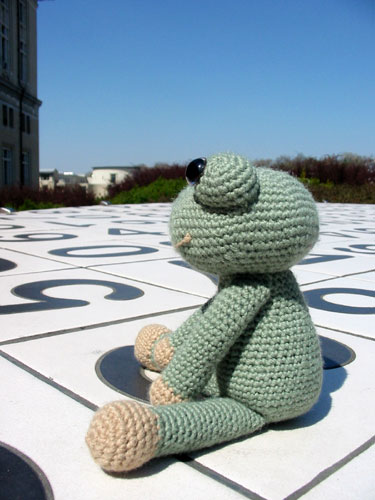 Finished Frog on a Holiday, side view