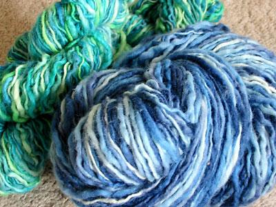 The reclaimed yarn