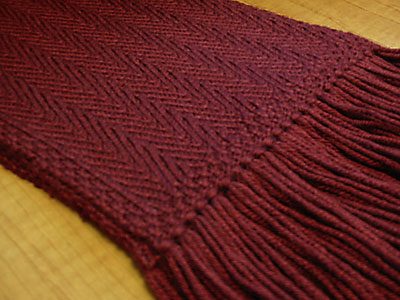 Red Herring Scarf, pattern detail