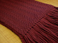 Red Herring Scarf, closeup