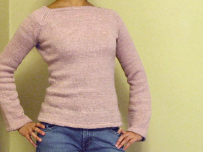Finished Hourglass Sweater