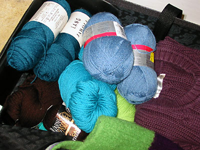 Lots of yarn in my suitcase
