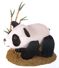 Panda toy as pictured in World of Knitted Toys