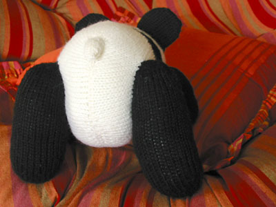 Finished panda toy