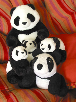 My collection of panda toys