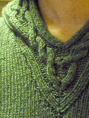 Rogue Sweater 2.0, neck detail
