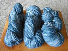 Handpainted Yarn in Stone Blue