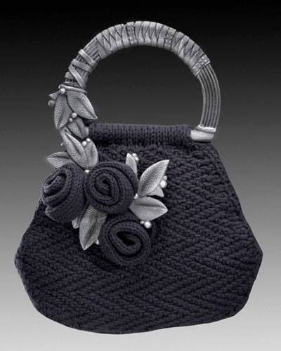 Saturday Night Knitted Purse