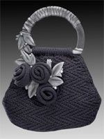 Saturday Night, a knitted purse