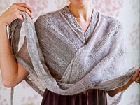 The Poet's Shawl, from Shibori Knits