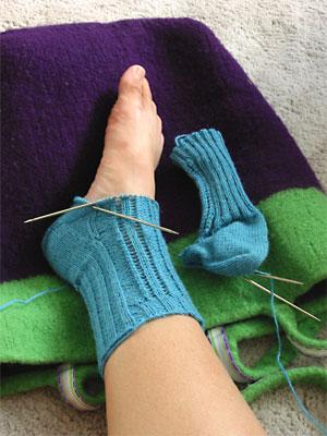 Straight-laced socks, post-heel turn