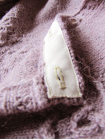 Tangled Yoke Cardigan, buttonhole band